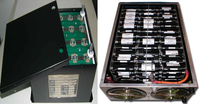 2.不同电压和容量等级的超级电容器模块