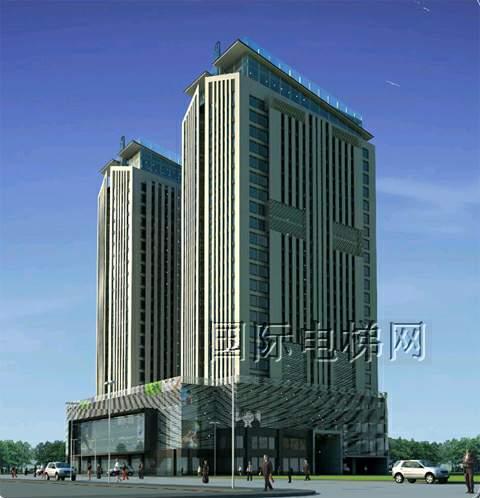 海洋科技大厦双子塔位于越南乙安省永隆市中心