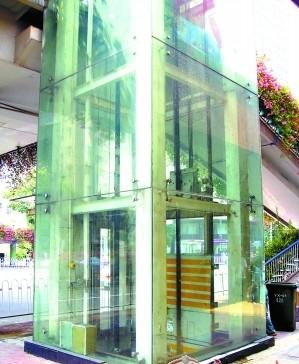 首批天桥别墅电梯只有三台